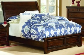 Hanover Dark Cherry Sleigh Low Profile Bed