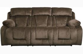 Stricklin Brown Finish Reclining Sofa