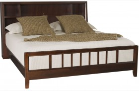 Tribecca Root Beer Finish Bookcase Bed