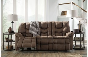 Burgett Espresso Finish Reclining Sofa