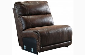 Luttrell Espresso Finish Armless Chair
