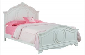 Jessica Clean White Youth Panel Bed