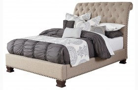 Charleston Burnished Tobacco Upholstered Bed