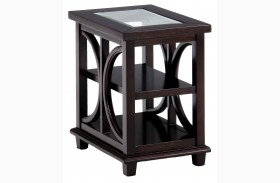 Panama Brown Finish Chairside Table