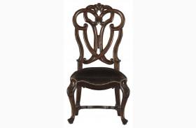 Costa Del Sol Dark Woodtone Messalinas Side Chair