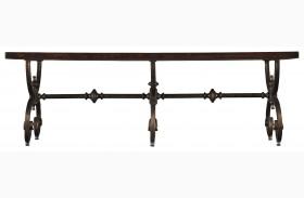 Costa Del Sol Dark Woodtone Bench Table
