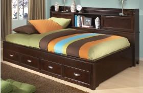 Park City Merlot Youth Bookcase Storage Lounge Bed