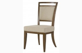 Grove Point Warm Khaki Finish Upholstered Back Side Chair Set of 2