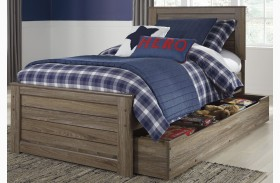 Javarin Grayish Brown Youth Trundle Panel Bed