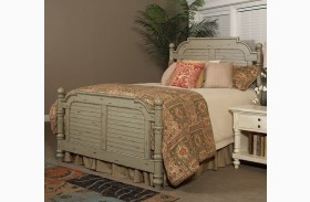 Woodhaven Distressed Green Finish Poster Bed
