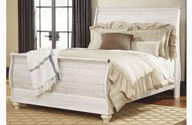 Willowton Whitewash Sleigh Bed