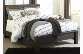 Windlore Dark Brown Panel Bed
