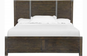 Pine Hill Rustic Pine Panel Bed
