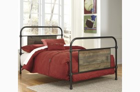 Trinell Brown Metal Youth Panel Bed