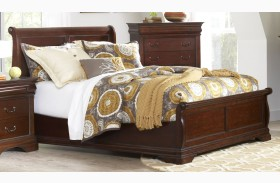 Chateau Vintage Cherry Finish Panel Bed