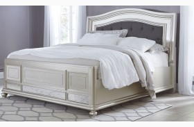 Coralayne Silver Panel Bed