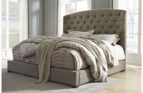 Gerlane Graphite Upholstered Panel Bed