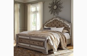 Birlanny Silver Upholstered Panel Bed