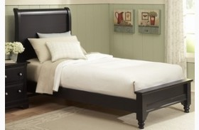 The Cottage Collection Black Youth Sleigh Platform Bed