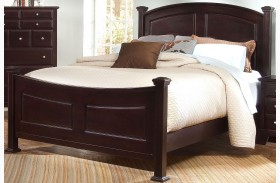 Hamilton/Franklin Merlot Panel Bed