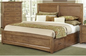 Transitions Dark Oak One Side Storage Panel Bed