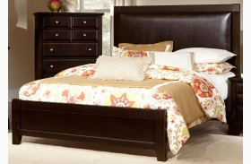 Bedford Merlot Upholstered Panel Bed