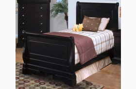 Belle Rose Black Cherry Youth Sleigh Bed