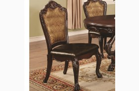 Abigail Cherry Upholstered Side Chair Set of 2