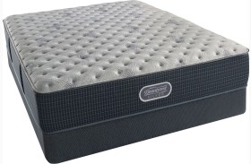 Beautyrest Recharge Silver Comfort Gray Tight Top Extra Firm Mattress with Foundation