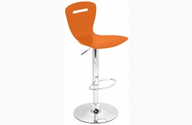 H2 Orange Finish Barstool