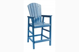 Generations Blue Dining Pub Arm Chair