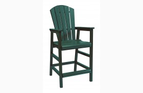 Generations Green Dining Pub Arm Chair