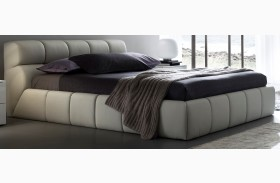 Cloud Beige Leather Bed