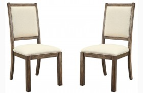 Colettte Beige Finish Side Chair Set Of 2