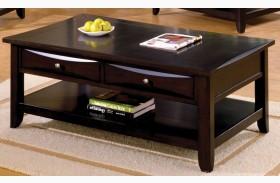 Baldwin Espresso Rectangular Coffee Table
