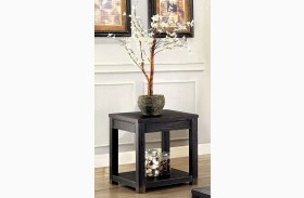 Meadow Antique Black Finish End Table