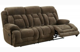 Grenville Brown Finish Reclining Sofa