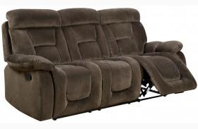 Bloomington Brown Finish Reclining Sofa