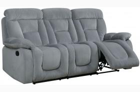 Bloomington Gray Finish Reclining Sofa