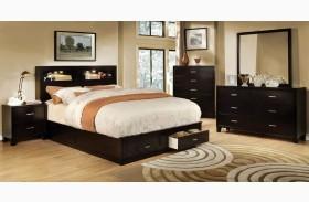 Gerico II Dark Espresso Storage Platform Bed