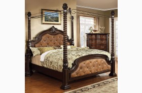 Monte Vista II Leatherette Poster Canopy Bed