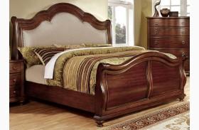 Bellavista Brown Cherry Sleigh Bed