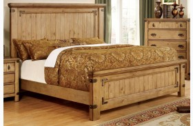 Pioneer Burnished Pine Finish Bed