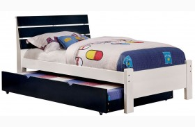 Kimmel Blue And White Finish Platform Bed