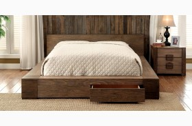 Janeiro Rustic Natural Finish Storage Bed