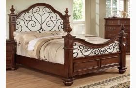 Landaluce Antique Dark Oak Poster Bed