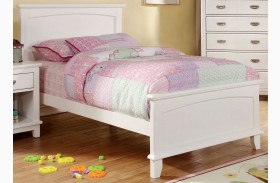 Colin White Panel Bed