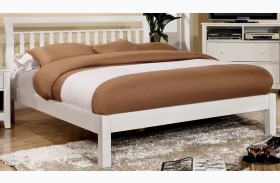 Corry White Platform Bed