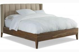 Crawford Sepia Upholstered Platform Bed