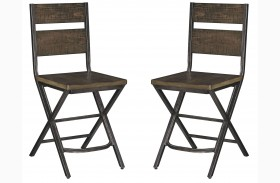 Kavara Medium Brown Counter Stool Set of 2